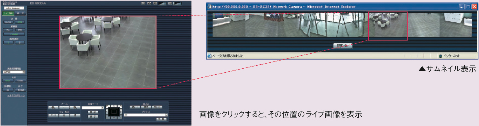 パナソニック-ネットワークカメラBB-SC364-360℃