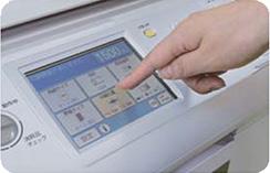 コニカミノルタ-デジタル孔版印刷機-CD56DP-CD53DP-カラータッチパネル