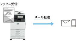 複合機でファックスFAXをメール受信転送