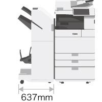 iR-ADV 4545F省スペース設計